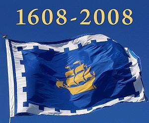 Le 400e anniversaire de la fondation de la ville de Québec. dans Histoire drapeau1